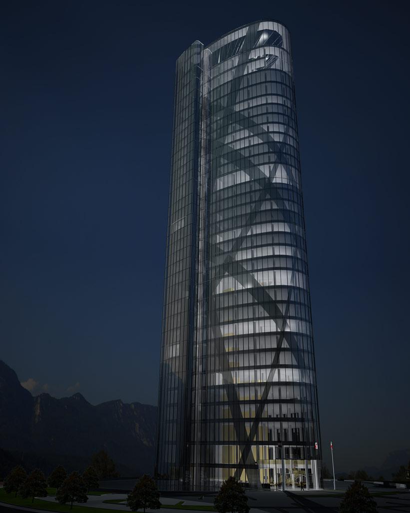 Bilder aus dem Beitrag: 3D Architekturvisualisierung ''Tyrol Tower Wörgl'' (Exteriors)
